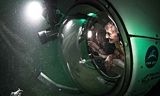 Under sea exploration in the submarine Aquarius.