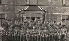 Allan Beckett and the rest of the Royal Engineers, circa 1942.