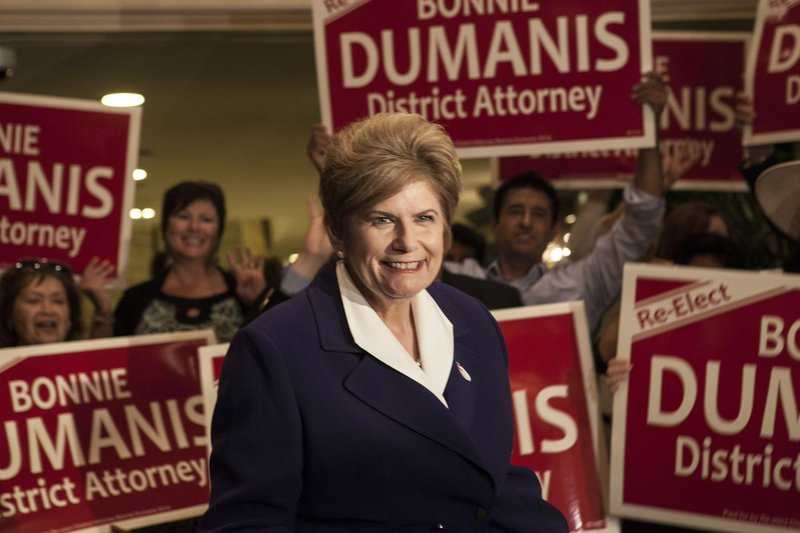 District Attorney Bonnie Dumanis smiles amid a crowd of supporters at the U.S...