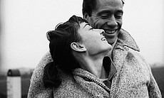 Actress Audrey Hepburn and her husband actor and producer Mel Ferrer pose for a portrait in Paris, France. (Agency reference 73908947)