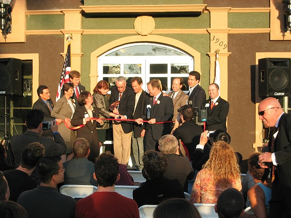 Gleason at the grand opening of the The San Diego LGBT Co...