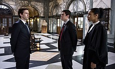 David Tennant as Will Burton, Toby Kebbell as Liam Foyle and Sophie Okonedo a...