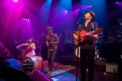 "Denver's Lumineers perform their hits ""Ho Hey"" and ""Stubborn Love."""