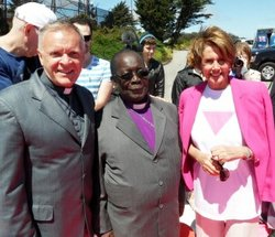 Ogle with Bishop Chrisopher Senyonjo and Speaker of the United States House o...
