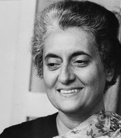Indira Gandhi, Prime Minister of India in 1974. (Agency reference - 92061861)