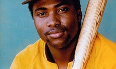 Tony Gwynn, seen in the Padres signature yellow and brown uniform of the 1980s, played 20 years with San Diego.