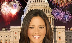 Country singer-songwriter Sara Evans performs in this year's Independence Day celebration.