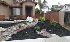 After: A San Diego home after a water-wise yard makeover.