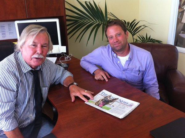 Coast News Group publisher Jim Kydd and editor Tony Cagal...