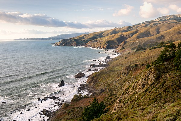 The California coastline by Muir Beach, northwest of San Francisco, is shown ...