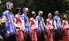 Youth from the Karen Organization of San Diego perform the Karen Don Dance in traditional Burmese outfits.  The Karen Don Dance is traditionally performed by teenagers in honor of the New Year in the Karen State of Burma, or Myanmar.