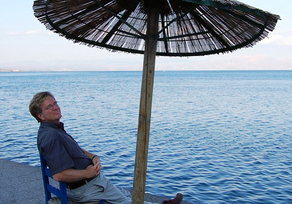 Rick Steves, enjoying the shade on Greece's Peloponnesian Peninsula, shares m...