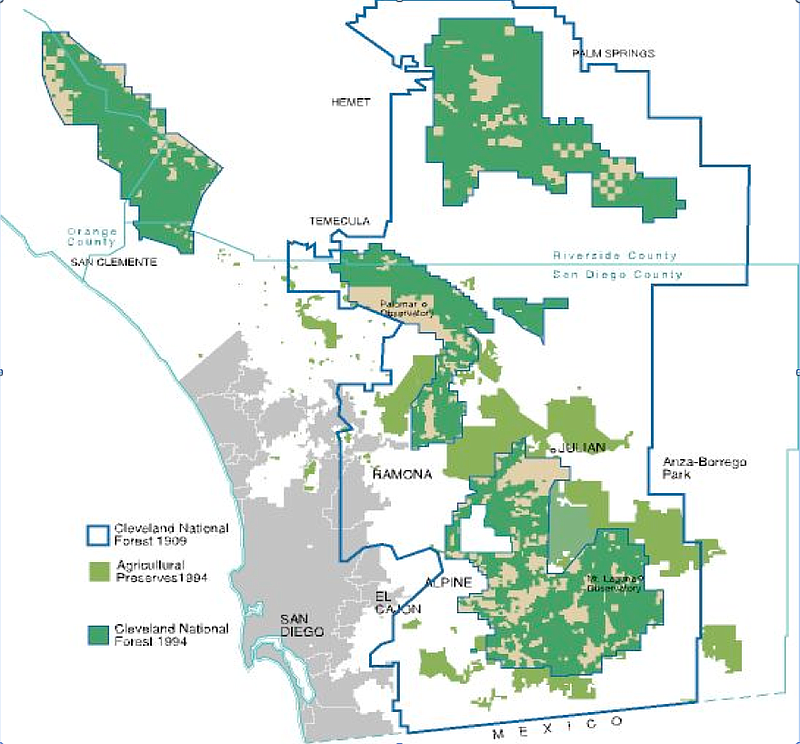 National Forests In California Map.Supervisors Consider Long Term Plan For Development In San Diego S