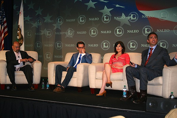 The opening panel at the annual conference of the National Association of Lat...