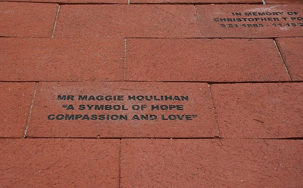 Memorial bricks, like this one for former Encinitas city councilwoman Maggie ...