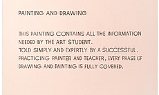 """Painting and Drawing,"" 1966-68, by John Baldessari, acrylic on canvas, 67.5 x 56 in. will be on exhibition at the Oceanside Museum of Art from July 5 through November 2, 2014. The piece is on loan from the Palomar College 