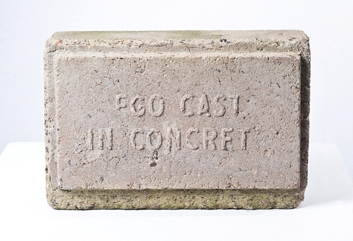 EGO CAST IN CONCRETE, 1977, by San Diego artist...