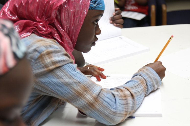 A San Diego Unified student participates in an after-school tutoring program ...
