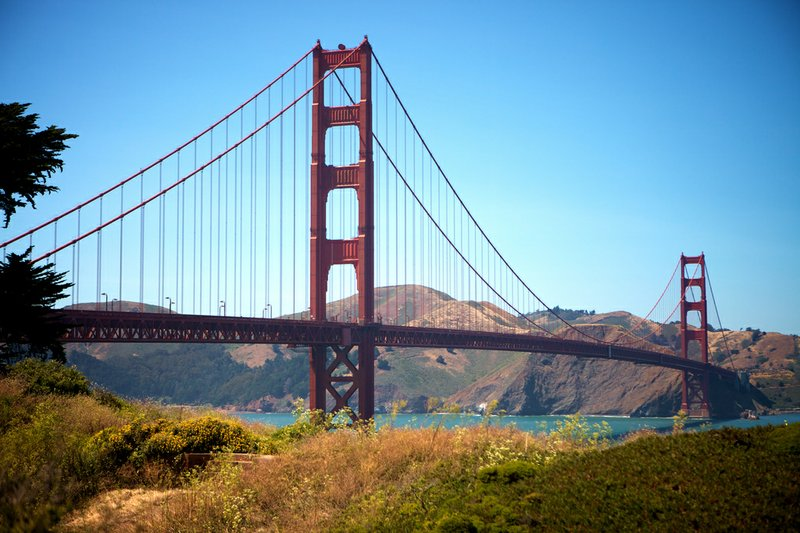 The Golden Gate Bridge in San Francisco is seen from The Presidio, June 21, 2...