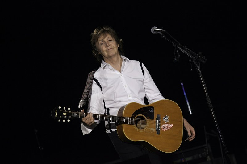 Paul McCartney performs in Centenario Stadium, Montevideo, Uruguay, on April ...