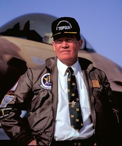 "Disgraced ex-Rep. Randy ""Duke"" Cunningham is seen at ""Top Gun"" training at then Naval Air Station Miramar in 1992."