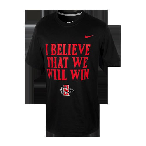 A T-shirt emblazoned with the chant,