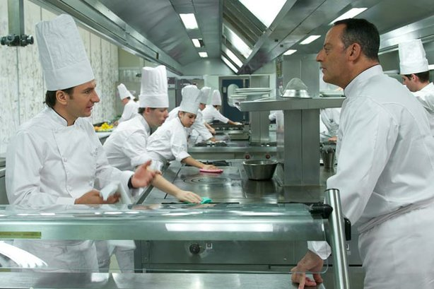 "Michael Youn and Jean Reno display a passion for food in the French comedy, ""..."