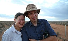 Mark and Joy in the Outback.