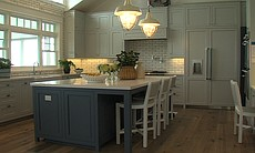The kitchen in Coastal Living Magazine's 2014 Showhouse.