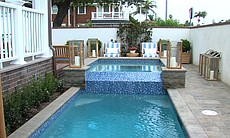 The pool in the backyard of Coastal Living Magazine's 2014 Showhouse.
