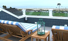 The rooftop deck of Coastal Living Magazine's 2014 Showhouse.