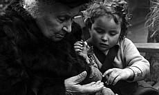Italian educational reformer Maria Montessori, who evolved the Montessori method of teaching children, is pictured during a visit to a school in London, England, 1951. (Agency reference - 79046089)