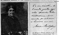 Maria Montessori on the front cover of Teacher'... (41344)