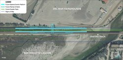 This image shows SANDAG's preferred location for the San Dieguito double trac...