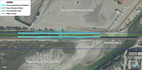 This image shows SANDAG's preferred location for the San ...