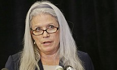 Irene McCormack Jackson, who was then-San Diego Mayor Bob Filner's communications director, announces she is suing the city and Filner for alleged sexual harassment by the mayor,  July 22, 2013.