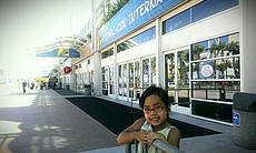 Gabby can't wait to go into the San Diego Convention Center to check out Comi...