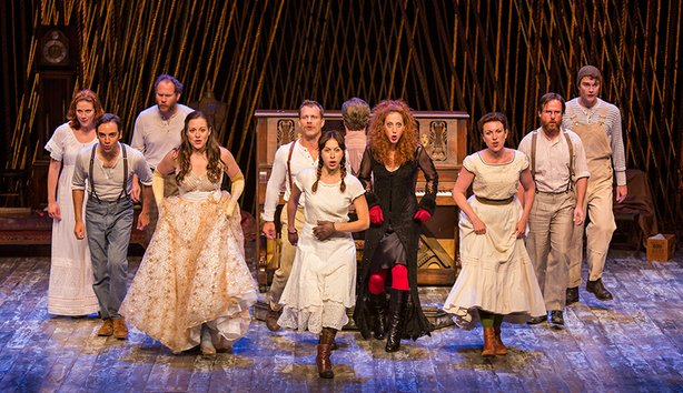 The cast of Stephen Sondheim and James Lapine's Into the Woods, in a reimagin...