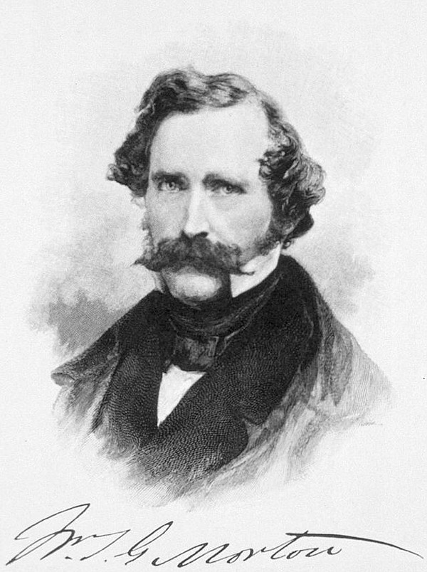 The conman William Morton, who is credited with the discovery of anesthesia.