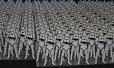 What does a thousand Stormtroopers look like? This.