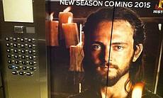 "Anything that could be wrapped, plastered, or covered was used for advertising. The inside and outside of the Marriott elevators promoted History Channel's ""Vikings."""