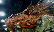 At Weta, Smaug made a sleepy appearance...