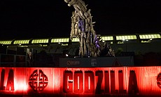 The biggest disappointment: the Godzilla statue.