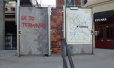 "Just outside the Convention Center you could find Terminus, courtesy of AMC's ""The Walking Dead."""