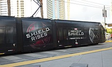 "Trolley wrap for ""Agents of S.H.I.E.L.D."""