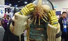 I saw this great costume inspired by Alien and the face hugger...