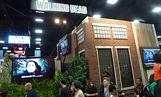 AMC's The Walking Dead booth.