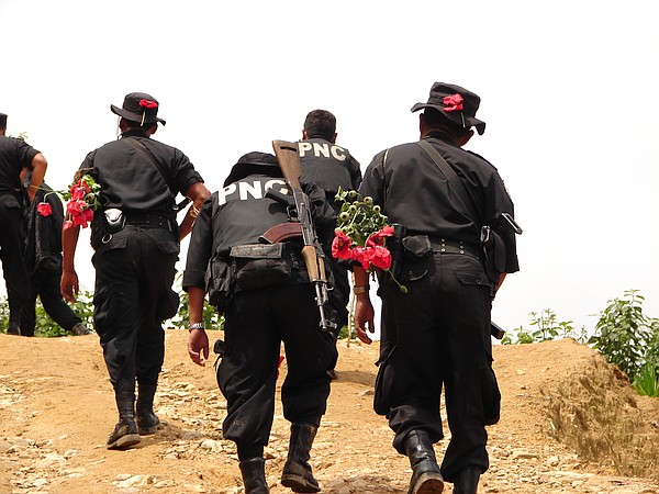 Guatemalan national police on a mission to eradicate popp...