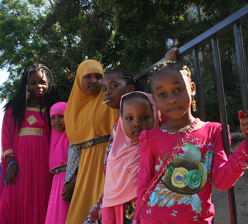 Members of the Somali Bantu community in City Heights join together on July 2...