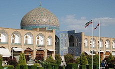 Esfahan's great Imam Mosque is both a tourist attraction and a vibrant place of worship, Iran.